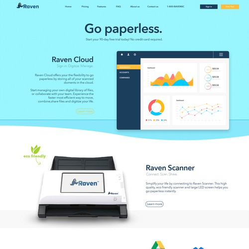 Website design for Raven.com