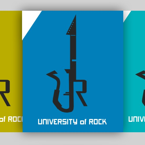 Create a Rockstar logo for UNIVERSITY of ROCK