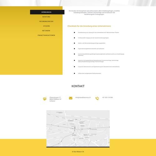 Star Alliance homepage design