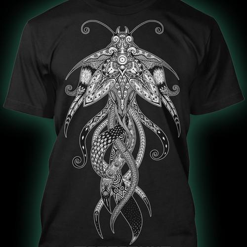 Create a T-Shirt for Austin rock band, Megafauna