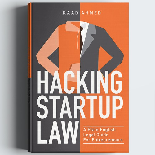 Flat illustration for startup law book