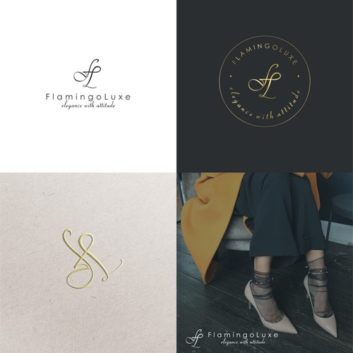 Luxury fashion company logo