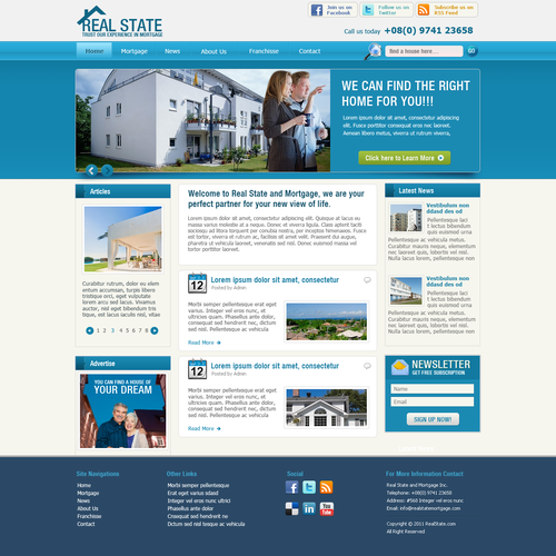 Create a Wordpress Theme for the next website design for Real Estate Network