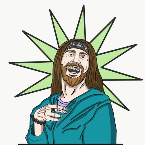 Hipster Jesus design for a drinkbottle