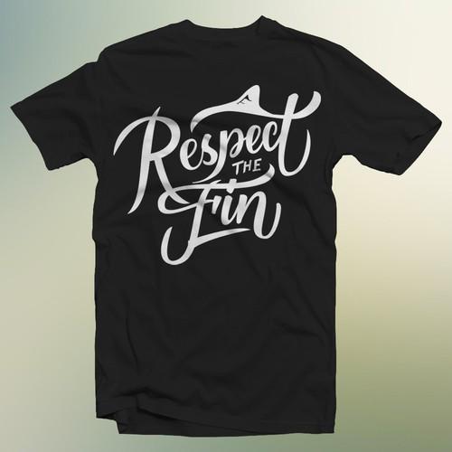 Respect the fin t shirt design for Respect The fin shark