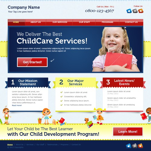 "Website Design for ""Kid"" WordPress Theme"