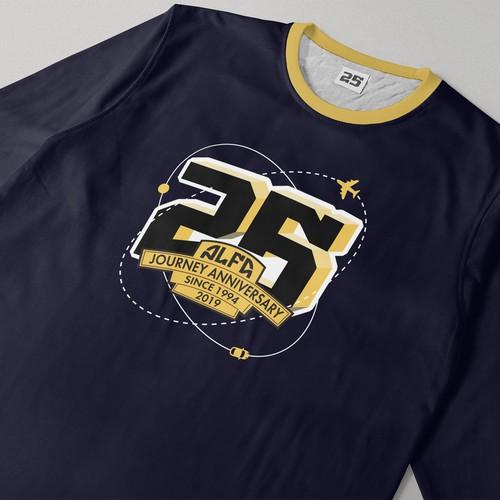 Logo for 25-years of journeys anniversary t-shirts