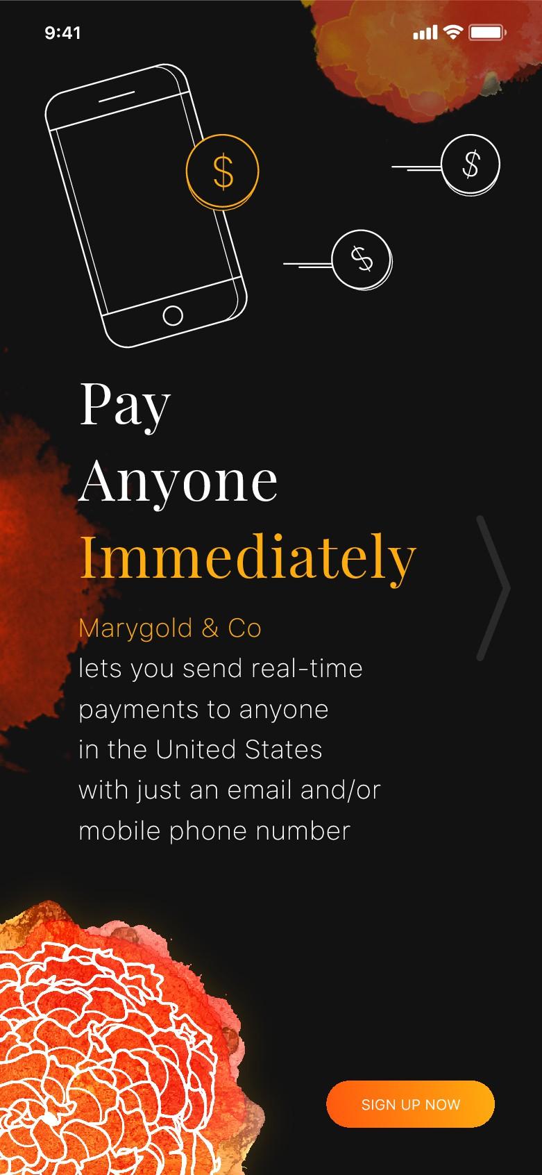 Upscale new cool fintech wait list app