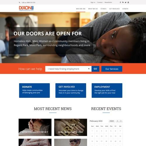 Non Profit Website Design for Community Organization
