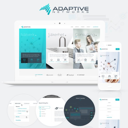 Website design and development for Adaptive Networks