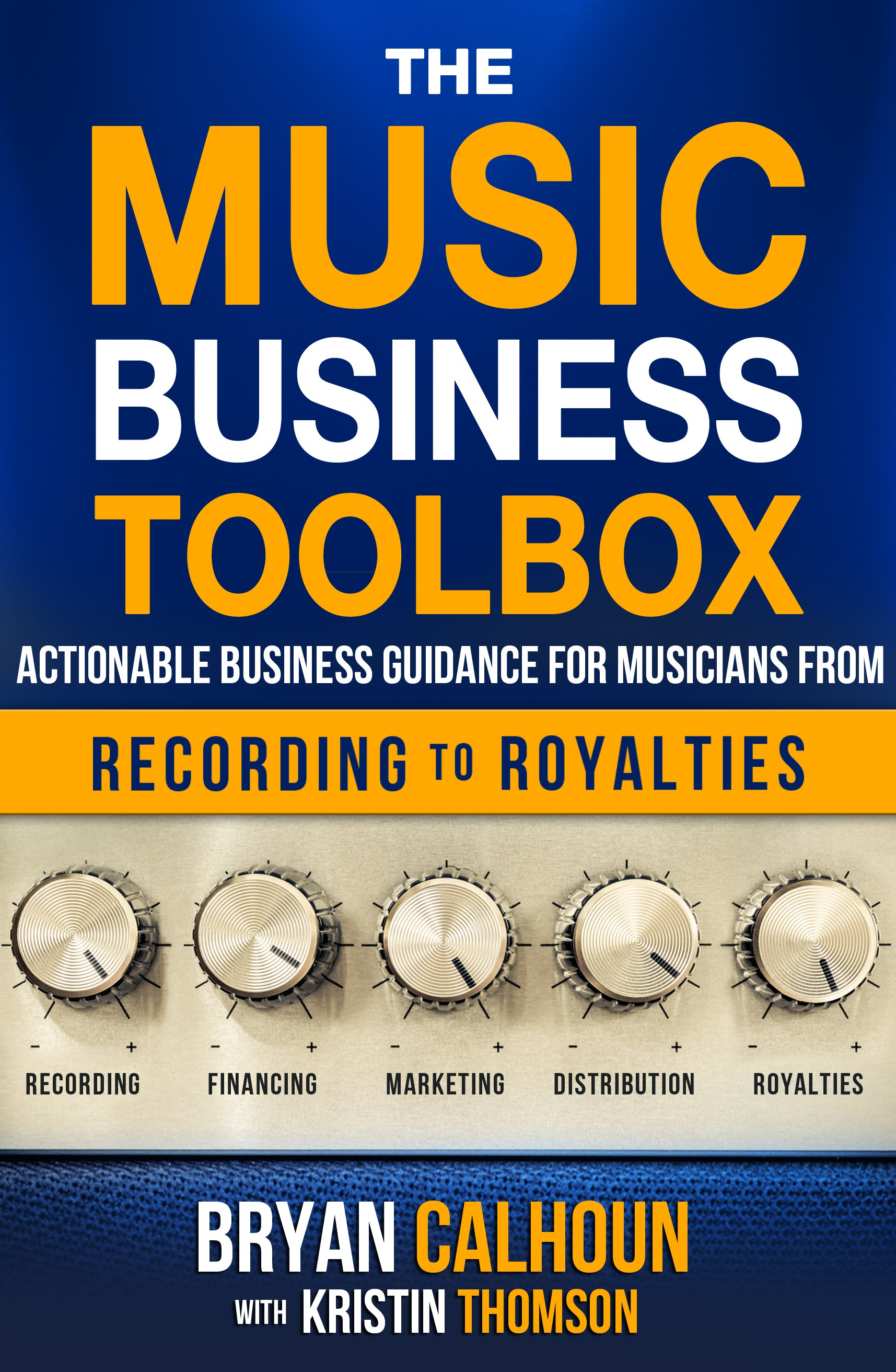 Design a how-to book cover for emerging independent musicians
