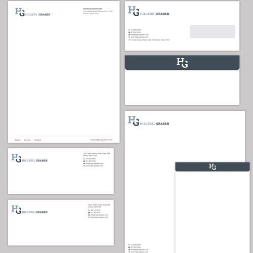 Letterhead template and envelopes