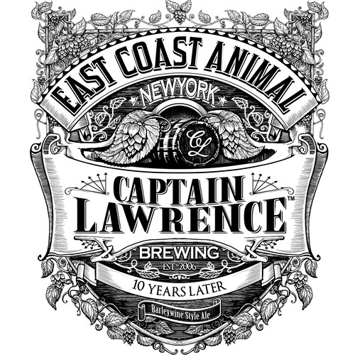 Beer Label For Captain Lawrence