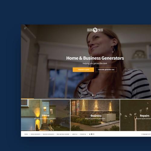Website Design for Generator Sales