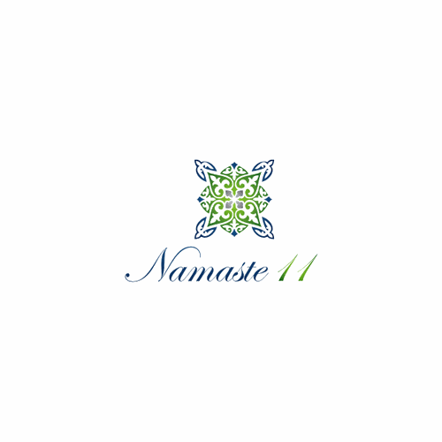 Create a peaceful logo for Namaste11 - a holistic life coaching and reiki practitioner/energy worker