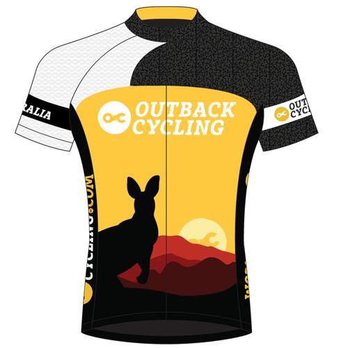 OutbackCycling.com jersey design