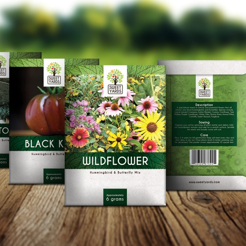 Seed Packet Design with lots of post contest work