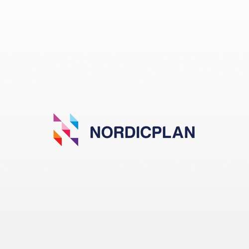 simple, strict logo for nordicplan