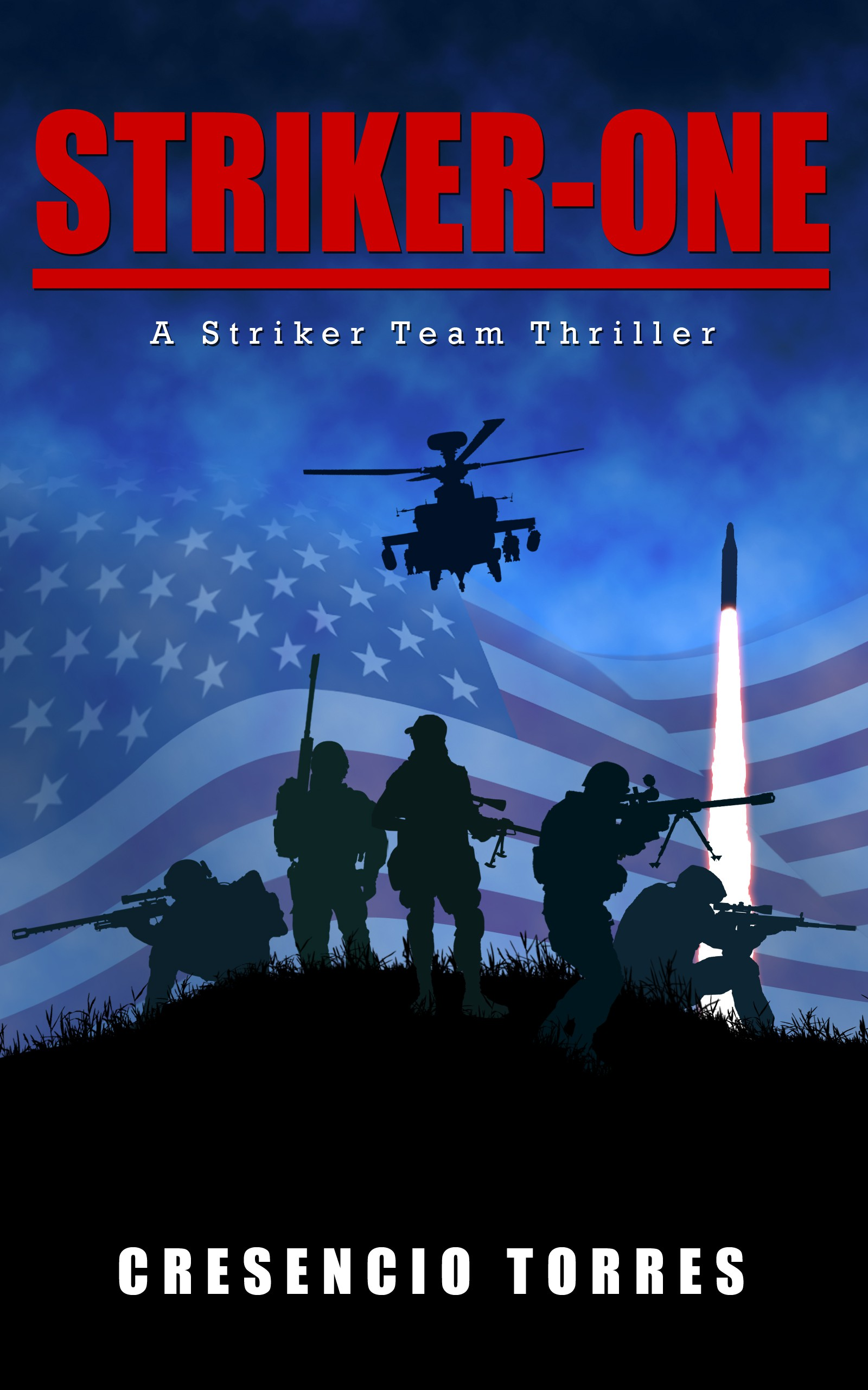 Design a compelling cover for a military action thriller that will capture attention.