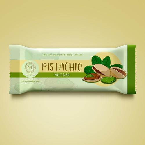 Organic pistachio Bar Packaging design