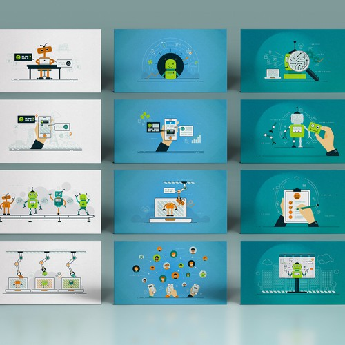 Set of illustrations for a digital marketing agency