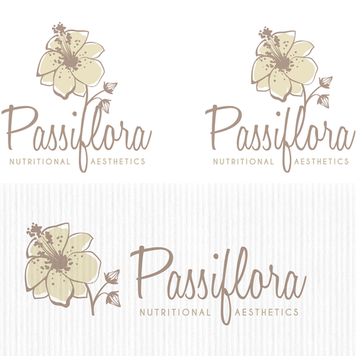 Creative logo concept for nutritional aesthetic