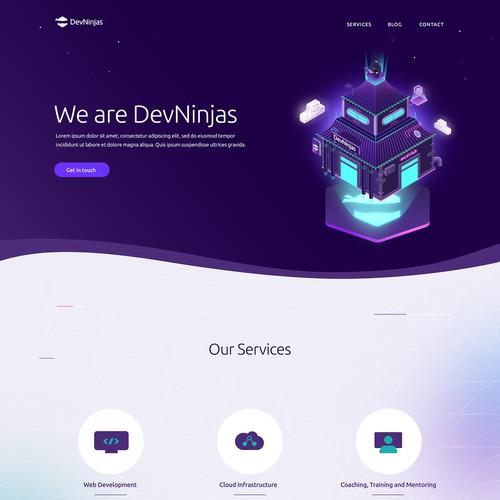 Web design for a software development company