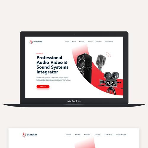 Audiovisual systems integrator landing page design