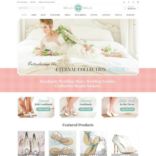 Houte Couture Wedding Shoe website