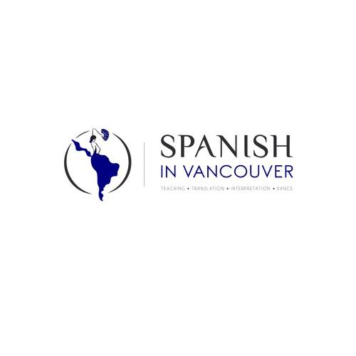 Spanish in Vancouver logo design