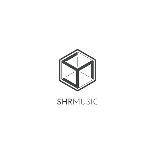 Clever & Geometric Logo for SHR Music