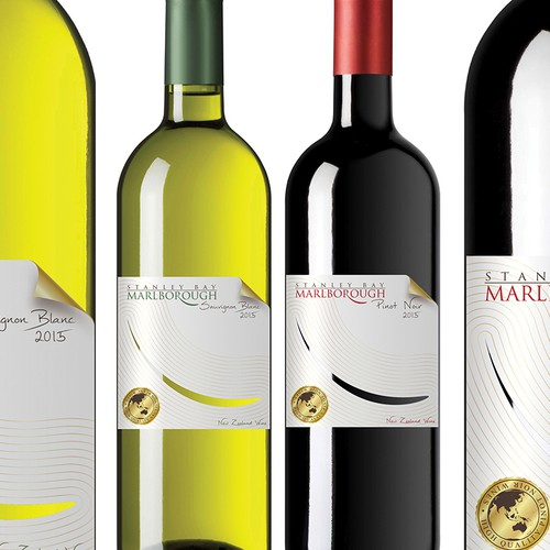 Design a Marlborough Sauvignon Blanc WINE label.