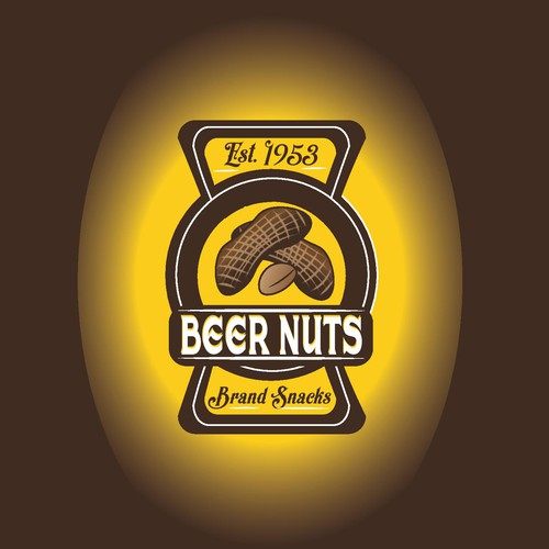 Retro peanut sticker