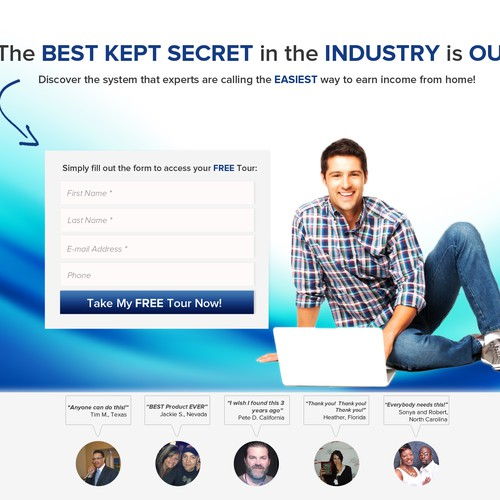 LANDING PAGE FOR BUSINESS OPPORTUNITY! - NEW!