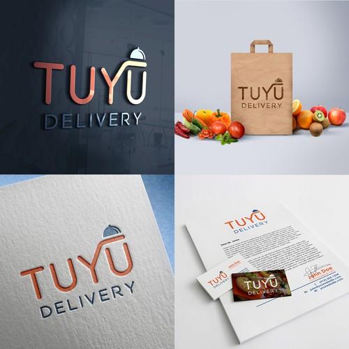 Online Food Selling Logo