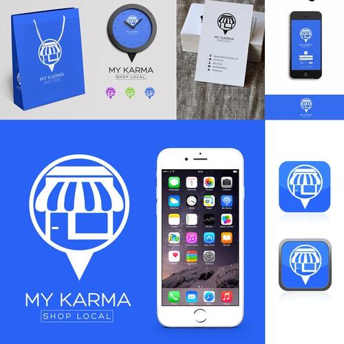 Logo and Branding for MyKarma - Shop Local