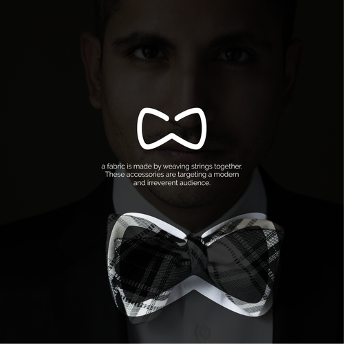 Design a hipster logo for a bowtie brand