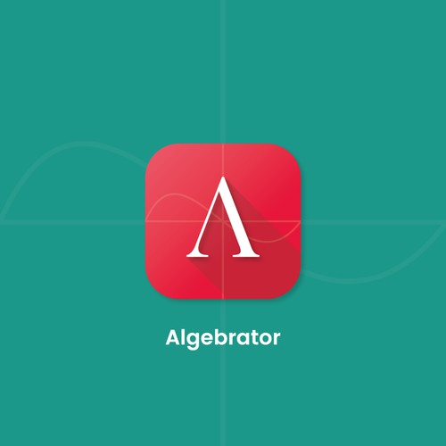 Algebrator - Splash and icon design for math education app
