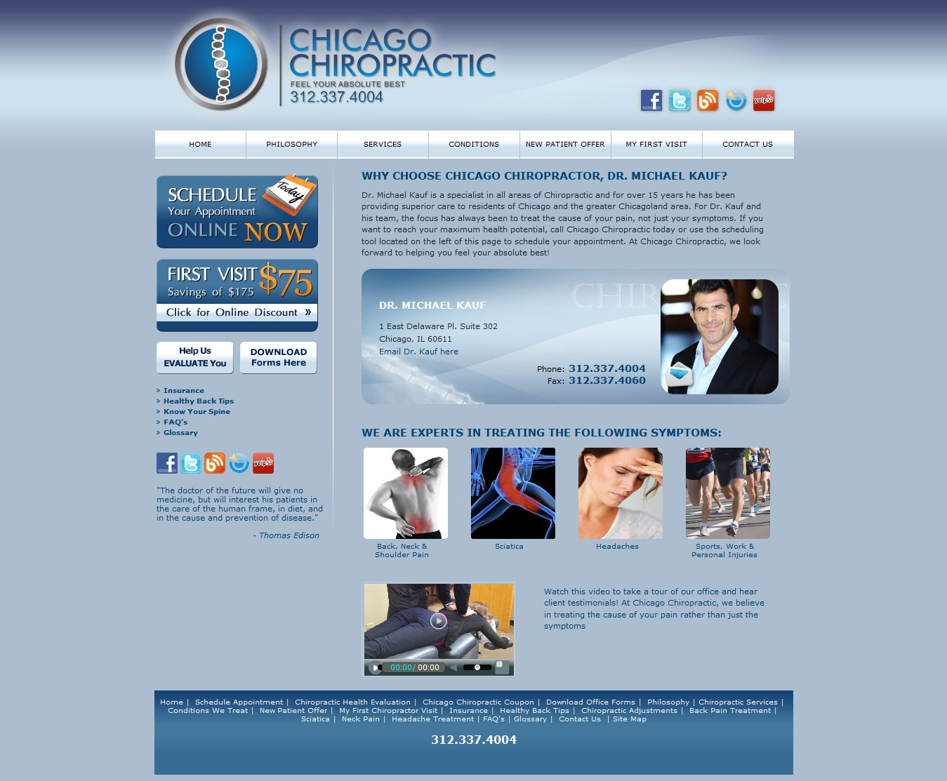 Help Chicago Chiropractic with a new banner ad