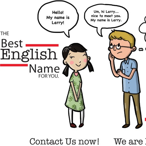 Design fun quirky illustrations for the next big webiste to hit Asia! BestEnglishName.com