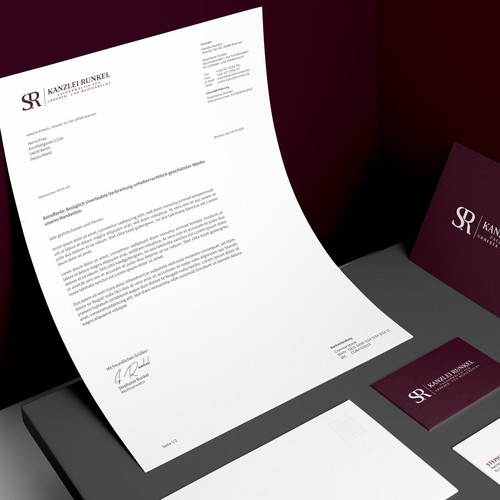 Corporate Design for an law firm specialising in copyright and media law.
