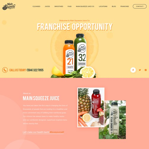 Main Squeeze Juice Website Design