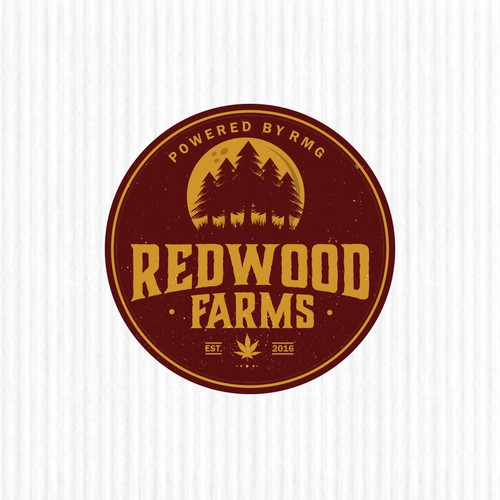 "Logo design concept for ""Redwood Farms"""