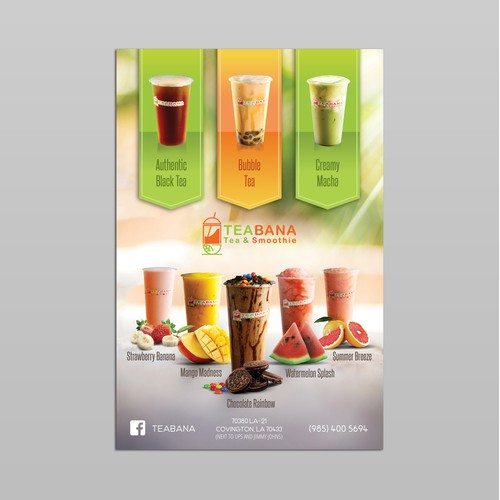 Tea and Smoothie Shop Flyer