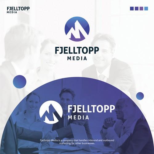 FJELLTOPP MEDIA Logo Design