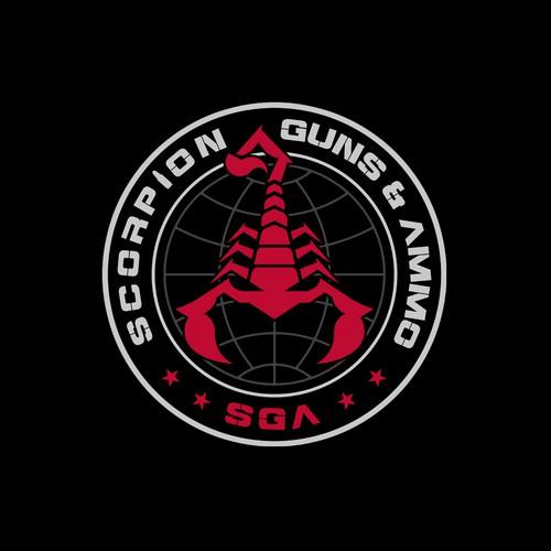 Logo design for Scorpion Guns & Ammo