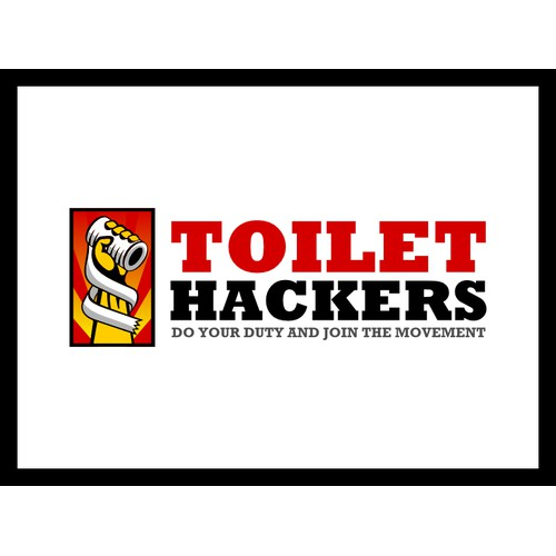 2.6 People without a toilet need your design! logo for Toilet Hackers...