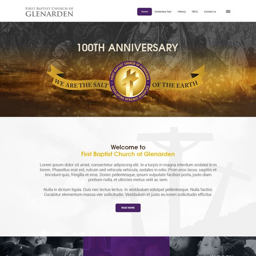 Church's 100th Anniversary Website