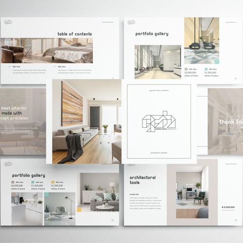 Powerpoint Template presentation for George Chidiac Architects
