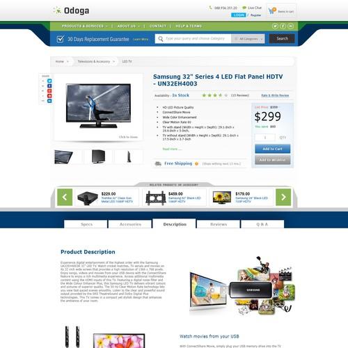 Consumer Electronics E-Commerce website desgin